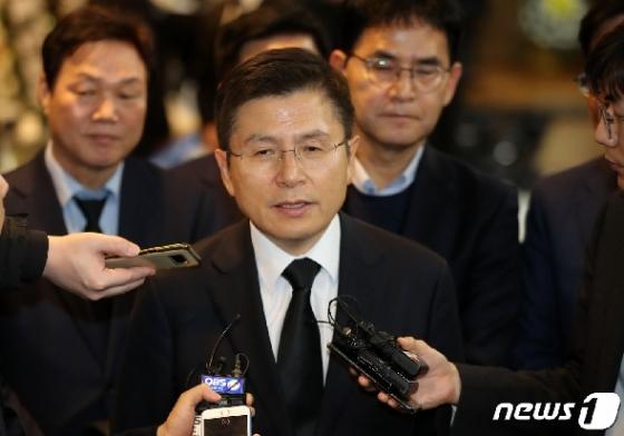 [사진] 고 신격호 회장 빈소 찾은 황교안 자유한국당 대표