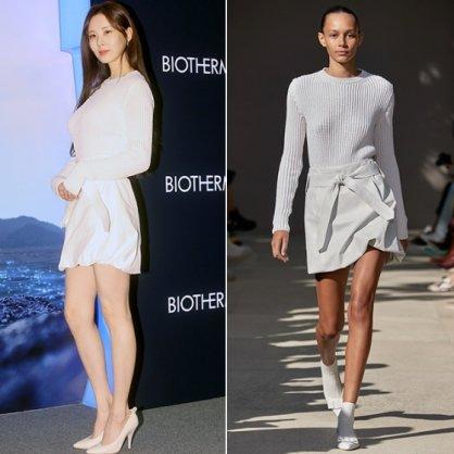 """서현, 뒷트임 의상에 드러난 '등근육'…""""모델과 같은 옷"""""""