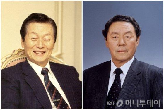고(故) 신격호 롯데그룹 명예회장(왼쪽), 신춘호 농심 회장/사진=롯데, 농심