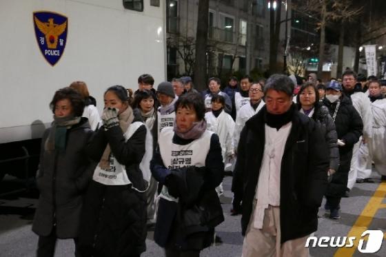 [사진] '마사회 비리 폭로' 故 문중원 유족