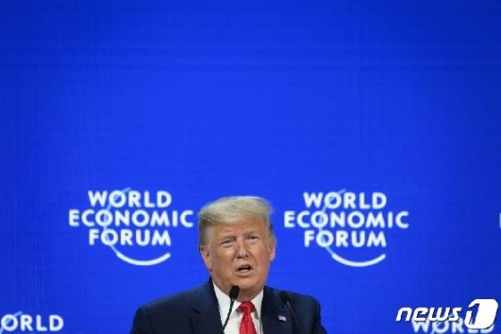 다보스서 미중 무역합의 자랑한 트럼프
