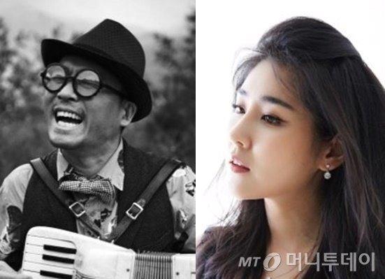 가수 김건모와 피아니스트 장지연/사진=김건모 20주년 앨범, 뉴스1