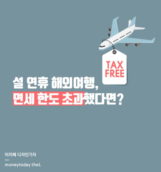 [카드뉴스] 설 연휴 해외여행, 면세 한도 초과했다면?