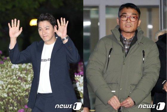 최근 연예계 성추문에 휩싸인 배우 주진모(좌)와 가수 김건모(우)/사진=뉴스1