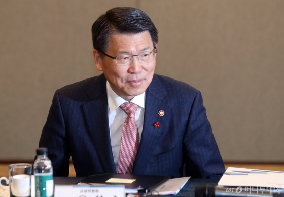 [사진]'은행권 포용금융 성과점검 간담회' 참석한 은성수 위원장
