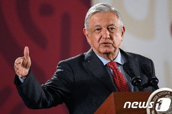 로페스 오브라도르 멕시코 대통령. © AFP=뉴스1
