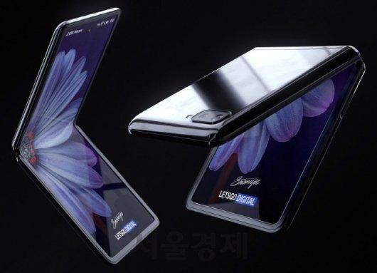 삼성전자 차기 폴더블폰 '갤럭시Z 플립'(가칭) 예상 렌더링 /사진=렛츠고디지털
