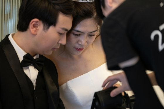 중국 신혼부부/사진=AFP