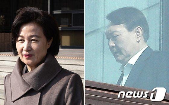 추미애 법무부장관(왼쪽)과 윤석열 검찰총장. / 사진제공=뉴스1