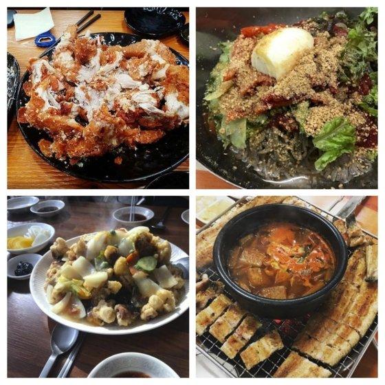 (왼쪽 위부터 시계방향으로) 풍미통닭, 철원막국수, 일미장어, 동승춘 /사진=식신닷컴