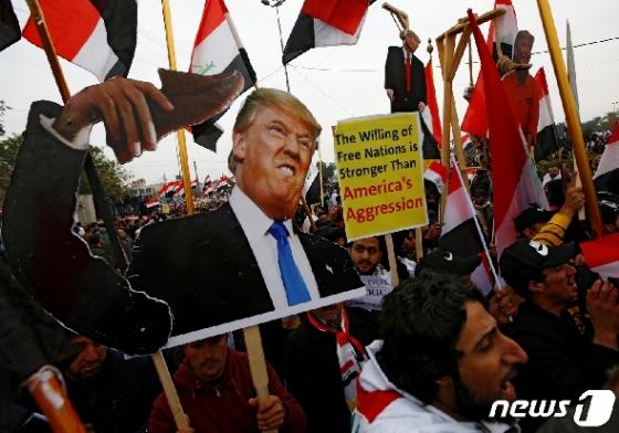 이라크서 수천명 반미 시위…