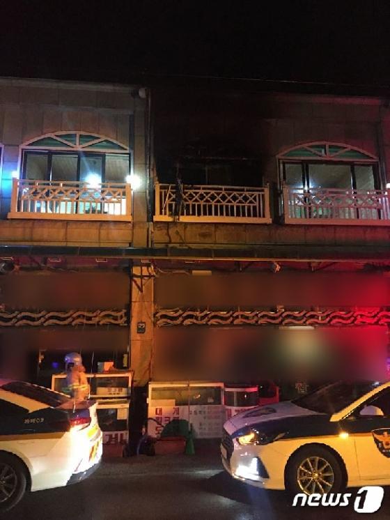 [사진] 설 명절 참사 '동해 펜션 폭발 사고 4명 숨져'