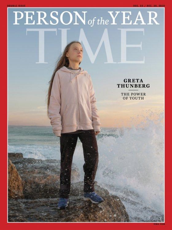 2019년 미국 타임지 '올해의 인물'로 선정된 스웨덴의 10대 환경운동가 그레타 툰베리. /사진=타임지 홈페이지