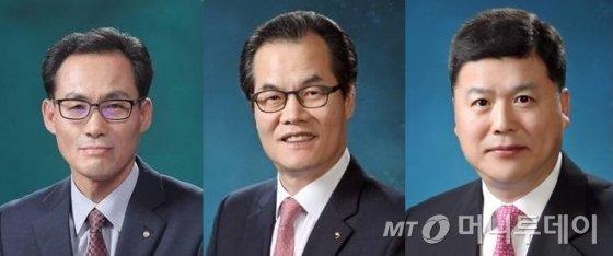 왼쪽부터 김정기, 이동연, 권광석 후보/사진제공=우리은행