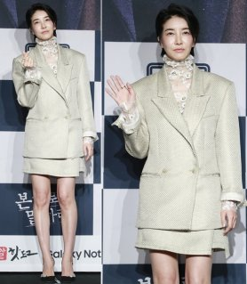 진서연, 출산 후 첫 제작발표회…시스루 포인트 '눈길'