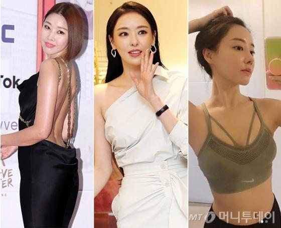 왼쪽부터 모델 한혜진, 배우 이다희, 배우 고우리(고나은) /사진=머니투데이 DB, 고나은 인스타그램