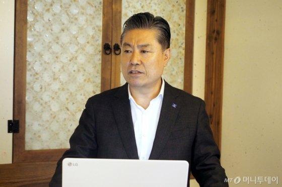 김방신 타타대우상용차 대표이사 사장. /사진제공=타타대우상용차