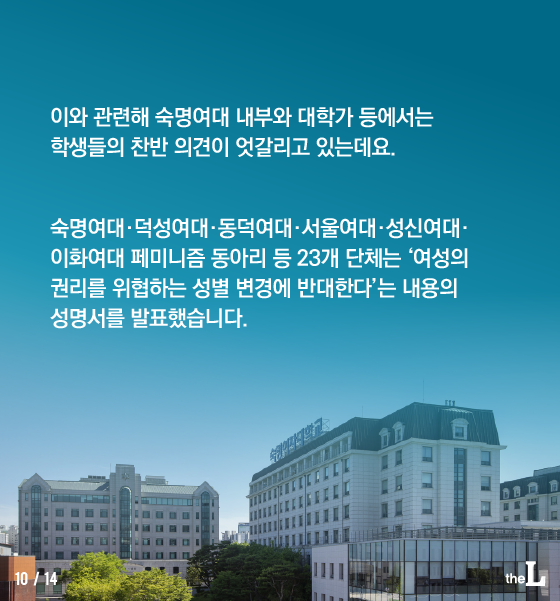 [카드뉴스] 트랜스젠더, 여대 입학 가능할까