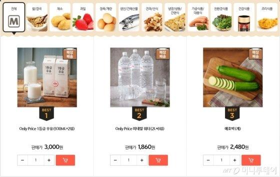 롯데마트몰 판매BEST /사진제공=롯데쇼핑