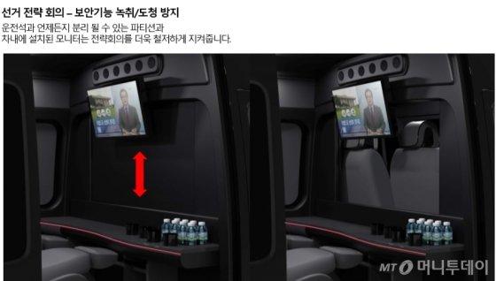 선거용 다목적 리무진 'DTV21' 내부 예시. /사진제공=디테크게엠베하