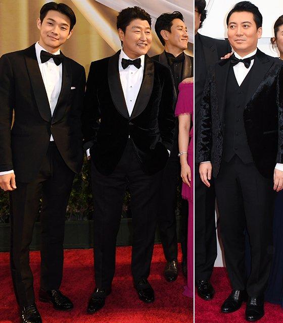 (왼쪽부터)배우 최우식, 송강호, 이선균, 박명훈 /사진=/AFP=뉴스1