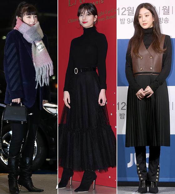 그룹 레드벨벳 조이, 가수 겸 배우 수지, 배우 정려원/사진=뉴스1