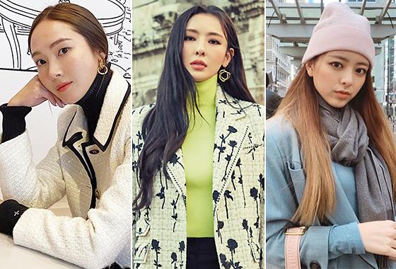 가수 제시카, 배우 이다희, 그룹 있지 유나/사진=각 스타 인스타그램, 그라치아