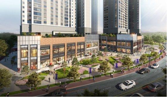 '포레나 전주 에코시티' 단지 내 상업시설/사진= 한화건설