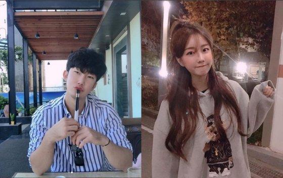 야구선수 박효준(왼쪽)과 치어리더 안지현 /사진=박효준·안지현 인스타그램
