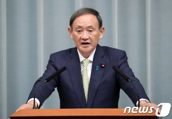 스가 요시히데 일본 관방장관 © AFP=뉴스1 © News1 강민경 기자