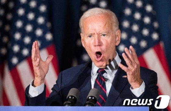 미국 대선 민주당 경선후보인 조 바이든 전 부통령. © AFP=뉴스1 © News1 자료사진