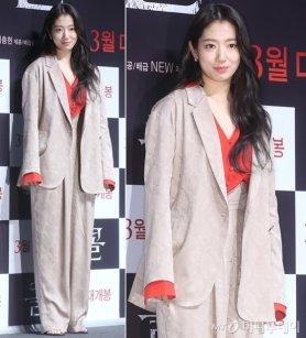 '콜' 박신혜, 강렬한 레드 포인트…슈트도 '완벽 소화'