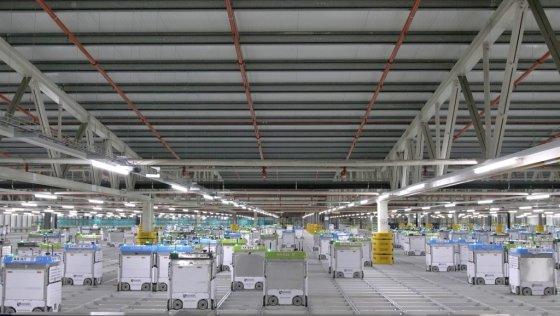미국 메릴랜드주에 있는 크로거의 로봇자동화 물류센처. 회사는 '고객충족센터'(CFC)로 부른다. /사진=크로거 트위터