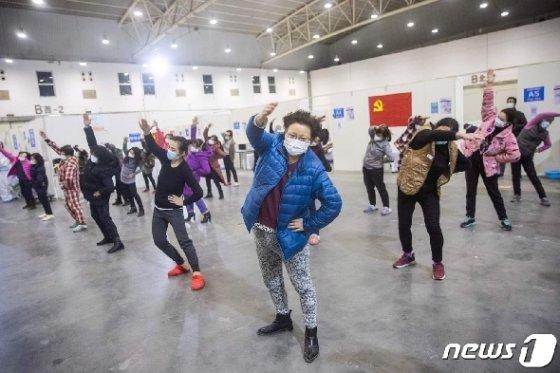 '헛둘 헛둘', 팔동작은 확실하게.  © AFP=뉴스1