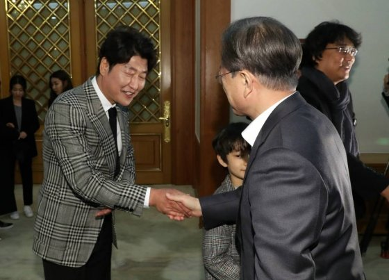 영화 '기생충'팀 20일 청와대 오찬 / 사진=뉴시스