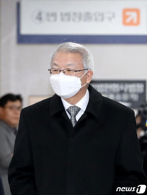 [사진] 공판 출석하는 양승태 전 대법원장