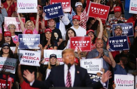 미국 네바다 주 라스베이거스 컨벤션센터에서 열린 도널드 트럼프 대통령이 선거 유세를 하고 있다. /사진=AFP