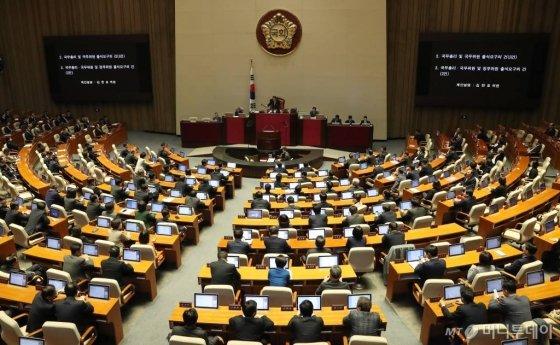 지난 18일 오전 서울 여의도 국회에서 제376회 국회(임시회) 제1차 본회의가 열리고 있다. / 사진=홍봉진 기자 honggga@