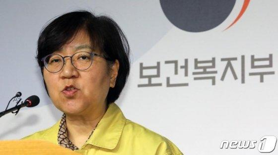 (세종=뉴스1) 장수영 기자 = 정은경 질병관리본부장이 28일 정부세종청사 보건복지부 브리핑실에서 중국 신종 코로나바이러스 관련 브리핑을 하고 있다.