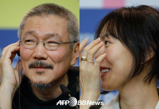 홍상수 감독(좌), 배우 김민희 / 사진=AFP·뉴스1<br>