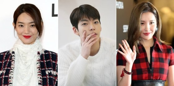 왼쪽부터 배우 신민아, 김우빈, 가수 선미. /사진=머니투데이DB