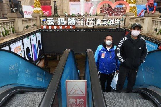 중국 후베이성 우한의 한 쇼핑몰/사진=로이터