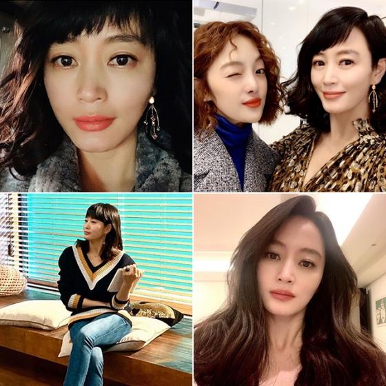 배우 김혜수가 드라마 '하이에나' 속 정금자 캐릭터를 위해 만든 인스타그램 사진들 /사진=인스타그램