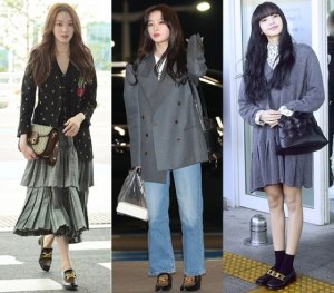 봄에 신기 좋은 '로퍼'…송혜교·리사 등 ★패션 엿보기