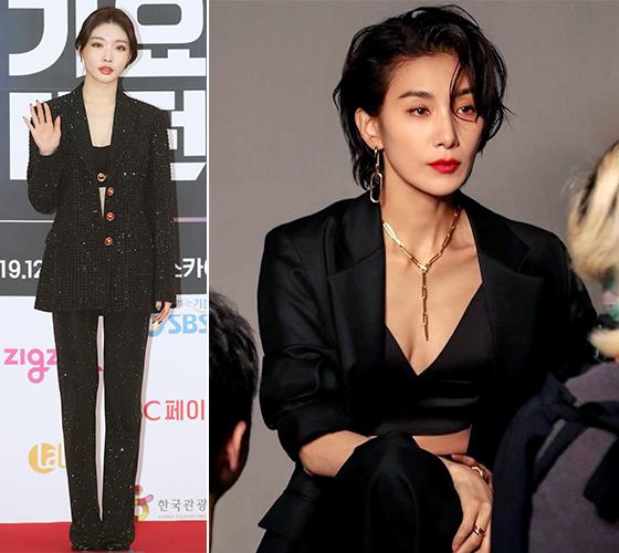 가수 청하, 배우 김서형/사진=뉴스1, 김서형 인스타그램