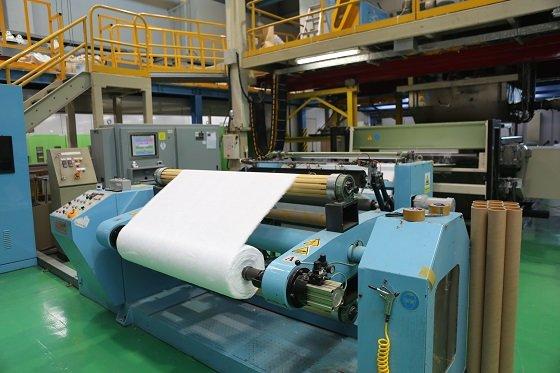 생기원의 MB필터 생산을 위한 '마스크 필터 파일럿(Pilot) 설비'/사진=과학기술정보통신부