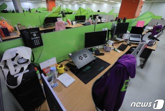 서울 강남구 한 기업 본사가 직원들의 재택근무로 비어있다. /사진=뉴스1