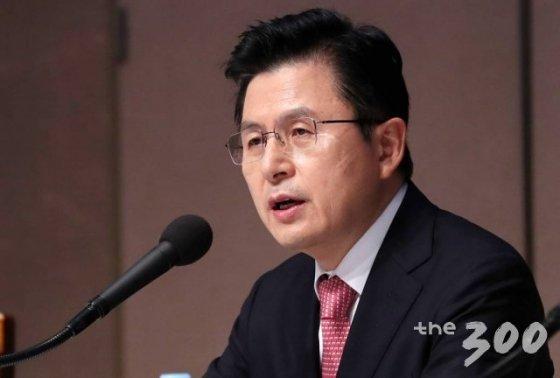 황교안 미래통합당 대표가 25일 오전 서울 중구 프레스센터에서 열린 관훈토론회에 참석해 모두발언을 하고 있다.