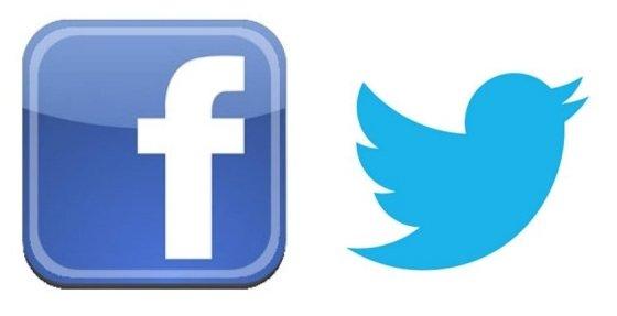 페이스북(왼쪽) 및 트위터 로고.