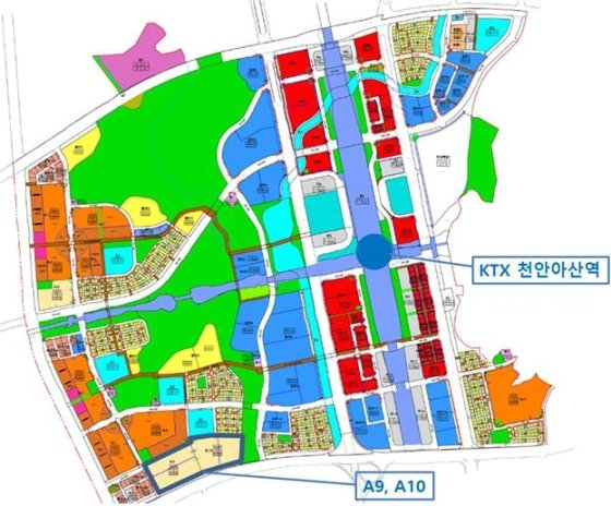 택지공모를 진행하는 아산 배방지구 A-9, A-10 구역 위치도. /자료=국토교통부